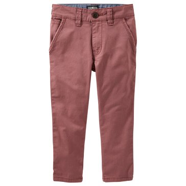 Oshkosh Toddler Boys' Slouch Straight Chino Pants, Red