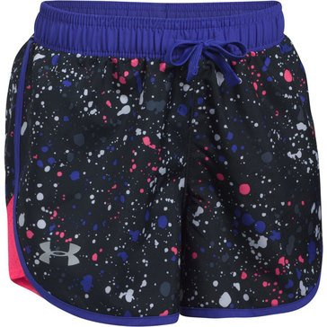 Under Armour Fast Lane Shorts, Black/ Penta Pink