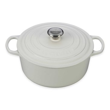 Le Creuset Signature 5.5-Quart Round Dutch Oven, White