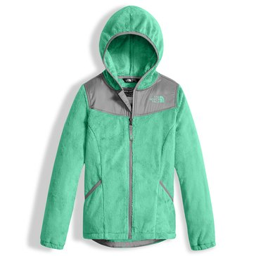 The North Face Big Girls' Fleece Hoodie Jacket, Bermuda Green
