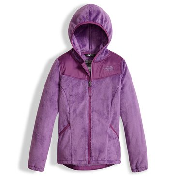 The North Face Big Girls' Fleece Hoodie Jacket, Purple