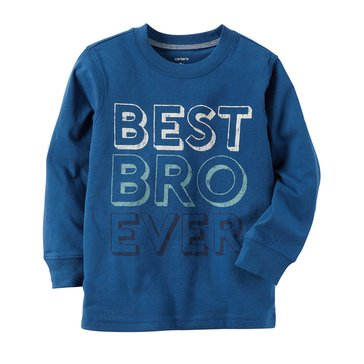 Carter's Toddler Boys' Best Bro Ever Tee, Blue