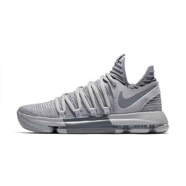 Nike Zoom KD10 Men's Basketball Shoe - Wolf Grey / Cool Grey