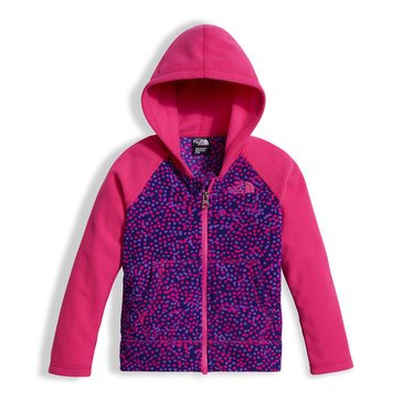 The North Face Toddler Girls' Glacier Full Zip Hoodie, Bright Navy Dot Print