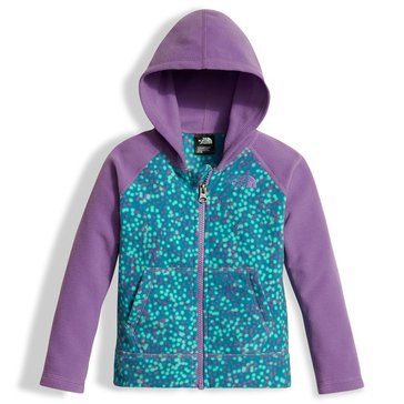The North Face Toddler Girls' Glacier Full Zip Hoodie, Blue Print