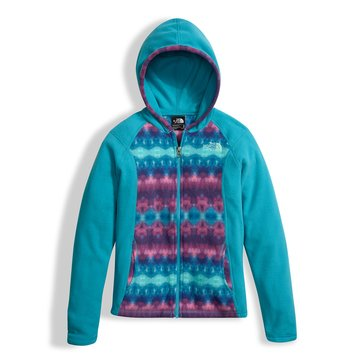 The North Face Big Girls' Glacier Full Zip Hoodie, Blue