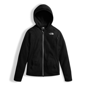 The North Face Big Girls' Glacier Full Zip Hoodie, Black