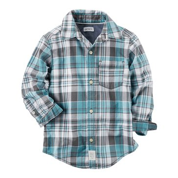 Carter's Toddler Boys' Madras Woven Shirt