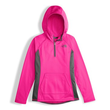 The North Face Big Girls' Glacier Tech 1/4 Zip Hoodie, Pink