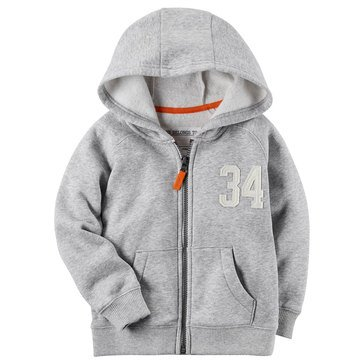 Carter's Toddler Boys' Basic Fleece Hoodie, Heather