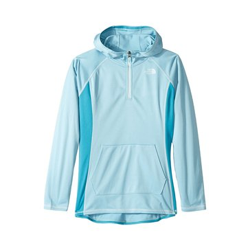 The North Face Big Girls' Glacier Tech 1/4 Zip Hoodie, Blue