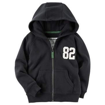 Carter's Toddler Boys' Basic Fleece Hoodie, Black