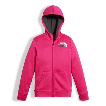 The North Face Big Girls' Surgent Full Zip Hoodie, Pink