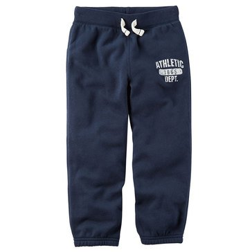Carter's Toddler Boys' Basic Fleece Pants, Navy