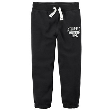Carter's Toddler Boys' Basic Fleece Pants, Black