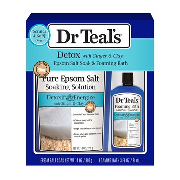 Dr Teal's Detox With Ginger & Clay Gift Set