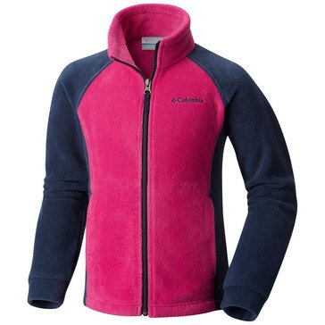 Columbia Little Girls' Benton Springs Fleece Jacket, Deep Plum