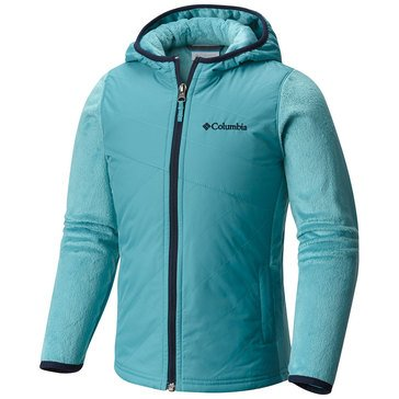 Columbia Big Girls' Pearl Plush II Omni Shield Jacket, Pacific Rim
