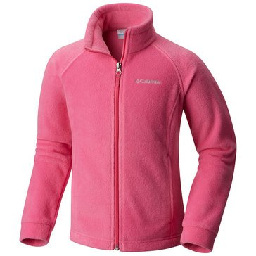 Columbia Big Girls' Benton Springs Fleece Jacket, Pink