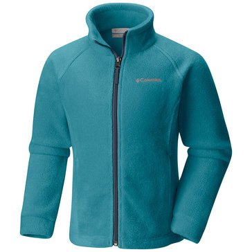 Columbia Big Girls' Benton Springs Fleece Jacket, Pacific Rim