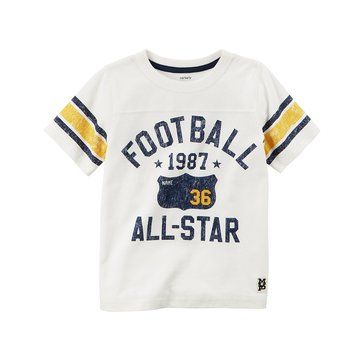 Carter's Little Boys' Football All-Start Tee, Ivory