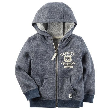 Carter's Little Boys' Full Zip Hoodie, Heather