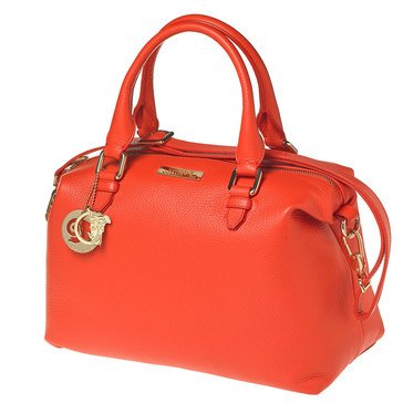 Versace Top Handle Satchel Orange