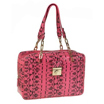 Versace Reptile Shoulder Bag Pink