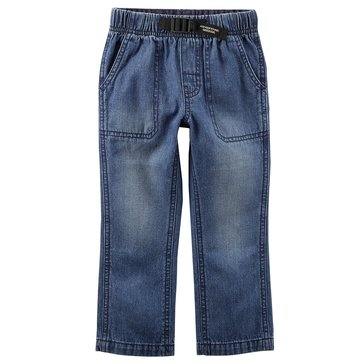 Carter's Little Boys' Buckle Utility Pants, Denim