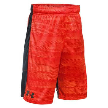 Under Armour Big Boys' Stunt Printed Shorts, Magma Orange