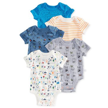 Rosie Pope Baby Boys' 5-Pack Bodysuits