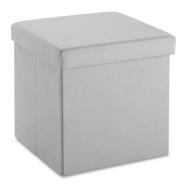 Whitmor Folding Storage Ottoman Cube, Paloma Gray