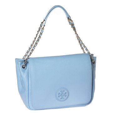 Tory Burch Marion Flap Shoulder Bag Rivera Blue