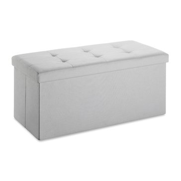 Whitmor Folding Rectangular Ottoman, Paloma Gray