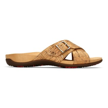 Vionic Dorie Women's Buckle Slide Sandal Gold Cork