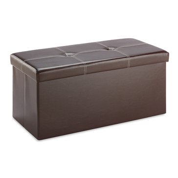 Whitmor Folding Rectangular Ottoman, Brown
