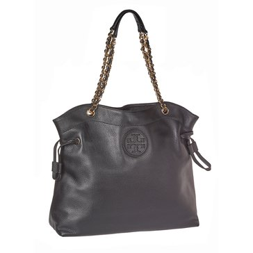 Tory Burch Marion Slouchy Tote Leather Black