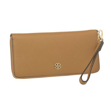 Tory Burch Perry Zip Passport Continental Wallet Tigers Eye
