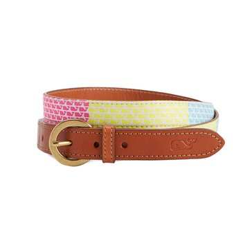 Vineyard Vines Neon Patchwork Silk Belt