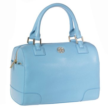 Tory Burch Robinson Leather Satchel Morning Sky