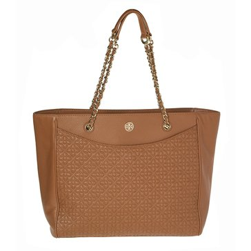 Tory Burch Bryant East West Tote Leather Luggage