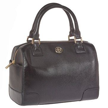 Tory Burch Robinson Leather Satchel Black