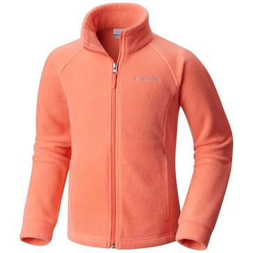 Columbia Big Girls' Benton Springs Fleece Jacket, Hot Coral