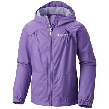 Columbia Big Girls' Switchback Rain Jacket, Grape Gum