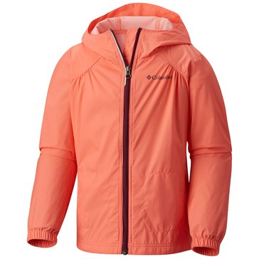 Columbia Big Girls' Switchback Rain Jacket, Hot Coral