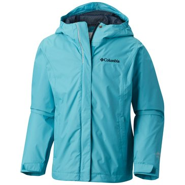 Columbia Big Girls' Arcadia Rain Jacket, Pacific Rim
