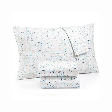 Martha Stewart Whim Collection 200 Thread-Count Sheet Set, Drip Drop - Twin