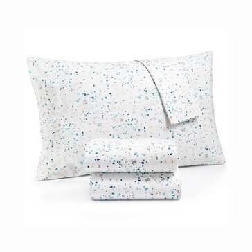 Martha Stewart Whim Collection 200 Thread-Count Sheet Set, Drip Drop - Full