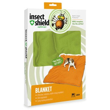 Insect Shield Dog Blanket Green, 56