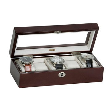 Mele & Co Macon Watch Box, Mahogany